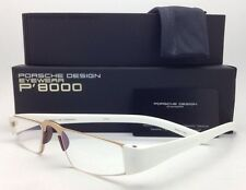 New ReaderS PORSCHE DESIGN Eyeglasses P'8801 C 48-20 +2.00 Gold & White Frame