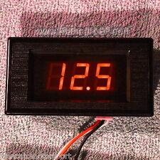 Voltmetro digitale DC 0-100V LED ROSSO[ tester pannello auto camper incasso lab