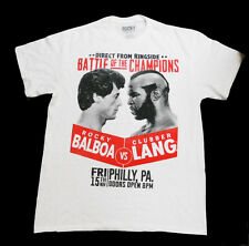 ROCKY III BATTLE OF THE CHAMPIONS Rocky Balboa vs Clubber Lang T-Shirt LG 42-44