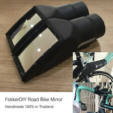 Road Bike Rear View Curved Mirror 1 Pair Plastic and Rubber Made in Thailand
