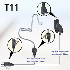 1-wire Surveillance Earpiece for Motorola HT1000 MTS2000 XTS1500 Portable Radio