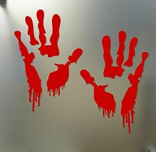 Bloody zombie hand print sticker walking dead Halloween Funny car window decal