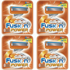 NEW AUTHENTIC Gillette Fusion Power Razor Blades Cartridge Refills - 32 Count