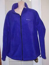 Womens COLUMBIA Purple Fleece Zip up Jacket Coat 1x 2x xxl Plus