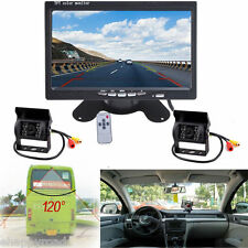 "2x Car Rear View Reverse Backup Camera System+7"" Monitor for RV Truck Van Kit"