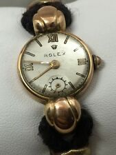 Antique Victorian 18k Yellow Gold Rolex Ladies Chronometer Wrist Watch