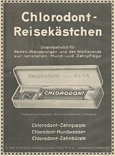 J1214 Dentifricio CHLORODONT - Pubblicità grande formato - 1927 Old advertising