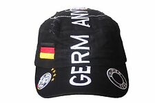 GERMANY BLACK 4 STARS MILITARY STYLE COUNTRY FLAG DEUTSC..BUND LOGO..HAT CAP..WC