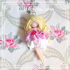 Collana Aurora ~ Cute Sleeping Beauty Necklace Disney Fimo Polymer Clay Kawaii