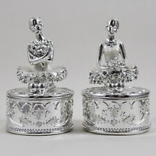 Two Ballerina Trinket Boxes Collectable Childrens Jewellery Ballet Girls 41007