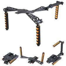 DSLR Camera Camcorder Shoulder Rig Mount Kit Rail Rod Support w/ Dual Handgrip