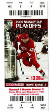 Detroit Red Wings 2009 Stanley Cup Playoffs FULL Ticket w/ Pavel Datsyuk