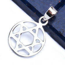 SOLID STAR OF DAVID .925 Sterling Silver Pendant 1""