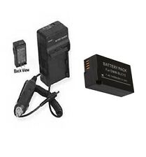 Battery + Charger for Panasonic DMCGH2K DMC-GH2H DMC-G5K DMC-G5KK DMC-G5KBODY