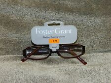 Foster Grant Reading Glasses +1.75 Burgundy  NEW