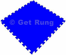 24 Sq Ft Blue Foam Interlocking Exercise Gym Floor Mat Protective Tile Flooring