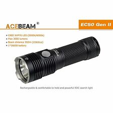 ACEBEAM EC50 Gen II Cree XHP70 6000K LED 3000 lm 26650 Rechargeable Flashlight