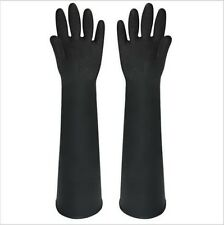 Black Color Rubber Gloves 60CM Lengthened Industrial Latex Wear Thick Long