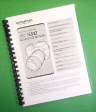 COLOR PRINTED Olympus Camera Evolt E-500 E500 Manual User Guide 216 Pages