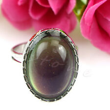 Vintage Retro Oval Mood Ring Color Changeable Emotion Feeling Adjustable New