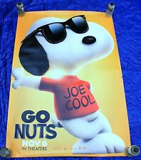 THE PEANUTS Movie Joe Cool Snoopy 4x6 Bus Shelter Poster