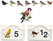 Jilguero Puerta Casa Placa Número Pájaro Letrero Cualquier Decoración GB