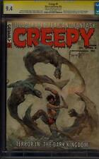 CREEPY 9 CGC 9.4 SS SIGNED FRANK FRAZETTA CLASSIC DEMON COVER SUPER RARE 1966