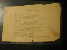 1945 Soldier Poem Office Strategic Services China Kunming Hainan Chinese