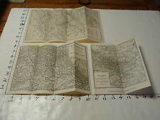 vintag travel paper--3 GERMAN MAPS, from German Guide Book