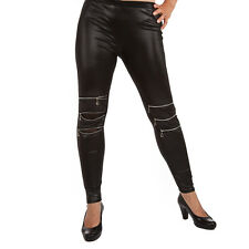 PunkJewelry Fashion Tattoo Leggings Black ZIPPER Reissverschluss EINHEITSGRÖSSE