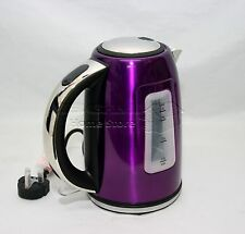 1.7L Litre Cordless Electric Kettle Fast Boil Jug Washable Filter 2200w PURPLE-P