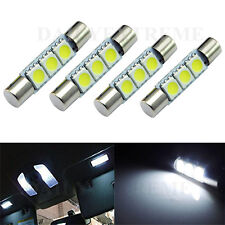 4x HID White 3-SMD 31mm 6641 Fuse LED Bulbs Vanity Mirror Light Sun Visor Lamp