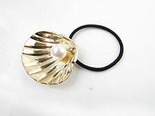 Or & Blanc Shell et Perle Élastique pour les cheveux Bobble Sirène
