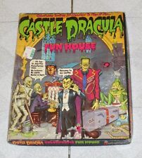 vintage Colorforms CASTLE DRACULA FUN HOUSE empty box and background ONLY