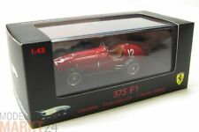 Hot Wheels elite ferrari 375 f1 silverstone rojo modelo Mint escala 1:43 - Embalaje original
