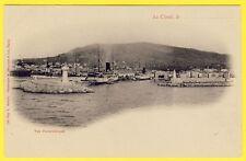 cpa RARE Dos 1900 LA CIOTAT (Bouches du Rhône) Vue Panoramique BERGERET, Nancy