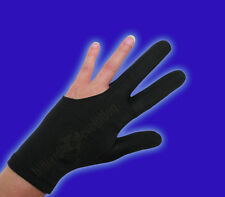Black Billiard Glove - Size Large - Double-Stitched Pool Cue Glove
