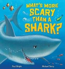 WHAT'S MORE SCARY THAN A SHARK? Childrens Reading Picture Story Book Large Book