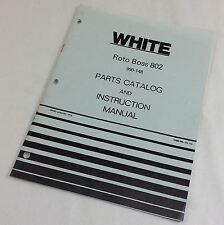 WHITE ROTO BOSS 802 TILLER PARTS CATALOG INSTRUCTION OPERATORS OWNERS MANUAL