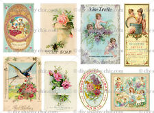 FURNITURE SOAP STICKER DECALS SHABBY CHIC FRENCH IMAGE TRANSFER VINTAGE LABELS