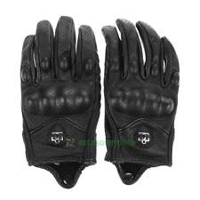 Motorcycle Riding Racing Bike Protective Armor Short Leather Gloves Leather MESH