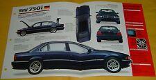 1998 BMW 750 iL 5379cc V12 EFI 322 hp IMP Info/Specs/photo 15x9