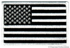 AMERICAN FLAG MOTORCYCLE VEST BIKER PATCH BLACK RIGHT embroidered iron-on US USA