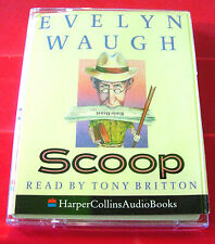 Evelyn Waugh Scoop 2-Tape Audio Book Tony Britton Humour/Satire/Journalism