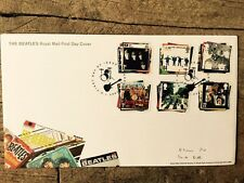 ROYAL MAIL FIRST DAY COVER STAMPS: THE BEATLES ALBUMS SEARGENT PEPPER WHITE HELP