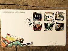 Royal Mail primer día cubierta Sellos: los Álbumes De Los Beatles Seargent Pimienta Blanca ayuda