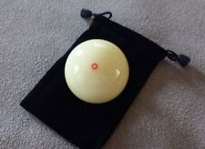 """New Genuine Aramith Red Circle Cue Ball  6oz  2.25"""" + Black Ball Carrying Pouch!"""