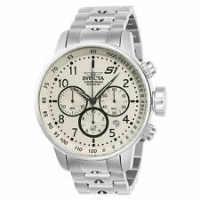 Invicta 23077 Men's Chronograph Beige Dial Steel Bracelet Watch
