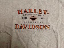 Harley Davidson 100th Anniversary gray Shirt Nwot Men's Large
