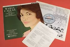 SAX 2410 B/s ED1 Maria Callas French Operatic Arias COLUMBIA UK 1st Original 61